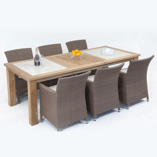 CARIBBEAN-CHUNKY-2PC-MARBLE-DINING-SET